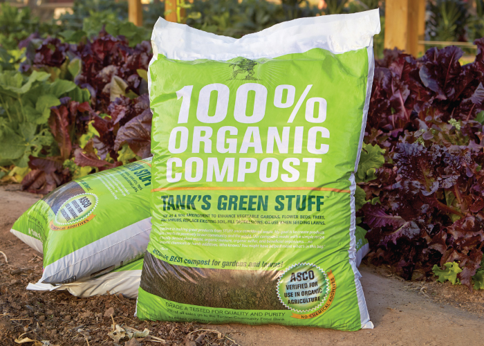 Recycled landscape materials for garden lawn tank 39 s for Organic compost soil